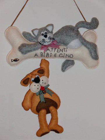 Prodotti il cucito creativo di antonella argento for Gatti in pannolenci
